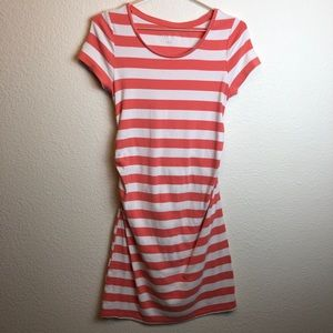 LIZ LANGE Striped Cozy Jersey Dress